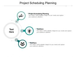 Project Scheduling Planning Ppt Powerpoint Presentation File Ideas Cpb