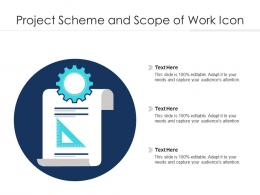 Project Scheme And Scope Of Work Icon