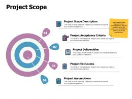 Project Scope Acceptance Criteria Ppt Powerpoint Presentation Design