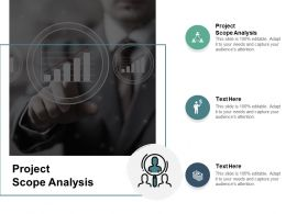 Project Scope Analysis Ppt Powerpoint Presentation Model Inspiration Cpb