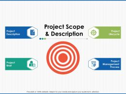 Project Scope And Description Goal Ppt Powerpoint Presentation File Skills