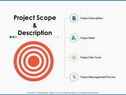 Project Scope And Description Management Process Ppt Presentation Slides