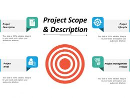 Project Scope And Description Ppt Inspiration Visuals