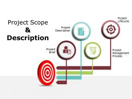 Project Scope And Description Ppt Powerpoint Presentation Gallery Graphics Tutorials