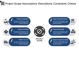 Project Scope Assumptions Descriptions Constraints Criteria