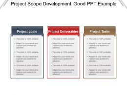 Project Scope Development Good Ppt Example