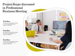 Project Scope Discussed In Professional Business Meeting
