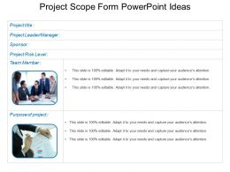 Project Scope Form Powerpoint Ideas