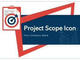 Project Scope Icon Documentation Management Business Goal Project