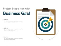 Project Scope Icon With Business Goal