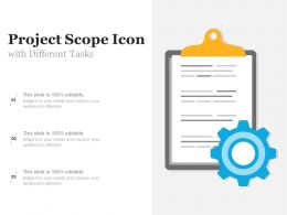 Project Scope Icon With Different Tasks