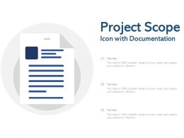 Project Scope Icon With Documentation