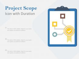 Project Scope Icon With Duration