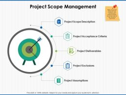 Project Scope Management Acceptance Criteria Ppt Powerpoint File Vector