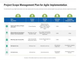 Project Scope Management Plan For Agile Implementation Ppt Themes