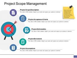 Project Scope Management Ppt Clipart