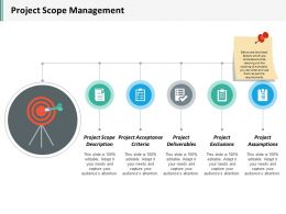 Project Scope Management Ppt Inspiration Background