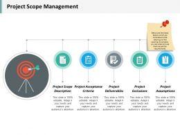 Project Scope Management Ppt Inspiration Background