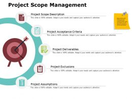 Project Scope Management Ppt Powerpoint Presentation Gallery Grid