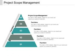 Project Scope Management Ppt Powerpoint Presentation Icon Designs Download Cpb