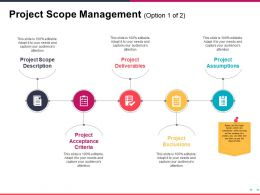 Project Scope Management Ppt Sample Presentations