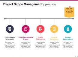 Project Scope Management Ppt Slide Examples