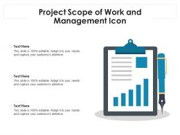 Project Scope Of Work And Management Icon