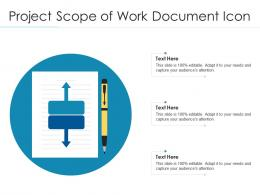 Project Scope Of Work Document Icon