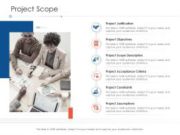 Project Scope Project Strategy Process Scope And Schedule Ppt Styles Slides