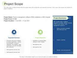Project Scope RCM S W Bid Evaluation Ppt Model Pictures