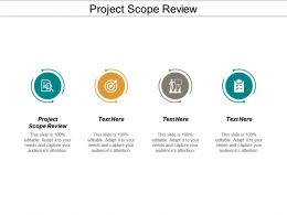 Project Scope Review Ppt Powerpoint Presentation Model Format Cpb