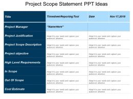 Project Scope Statement Ppt Ideas