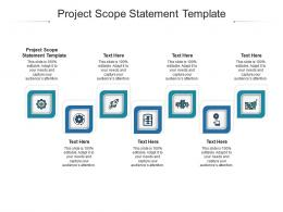 Project Scope Statement Template Ppt Powerpoint Presentation Infographic Template Styles Cpb