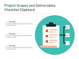 Project Scopes And Deliverables Checklist Clipboard