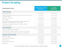 Project Scoping Implementation Activity Ppt Powerpoint Presentation Inspiration