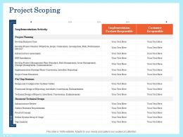 Project Scoping Implementation Ppt Powerpoint Topics