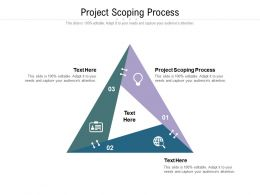 Project Scoping Process Ppt Powerpoint Presentation Icon Show Cpb