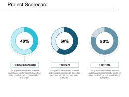 Project Scorecard Ppt Powerpoint Presentation Portfolio Brochure Cpb