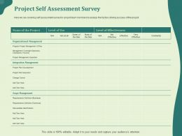 Project Self Assessment Survey Identification Ppt Powerpoint Presentation Examples