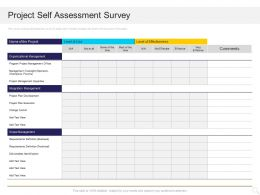 Project Self Assessment Survey Plan Ppt Powerpoint Presentation Slides Layout