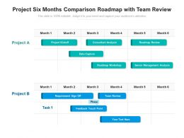 Project Six Months Comparison Roadmap With Team Review