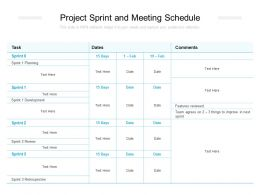 Project Sprint And Meeting Schedule