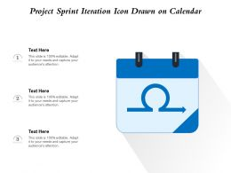 Project Sprint Iteration Icon Drawn On Calendar