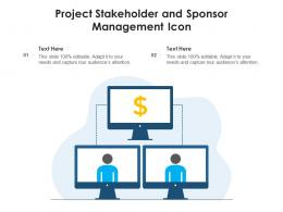 Project Stakeholder And Sponsor Management Icon