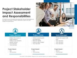 Project Stakeholder Impact Assessment And Responsibilities