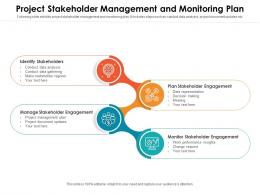 Project Stakeholder Management And Monitoring Plan