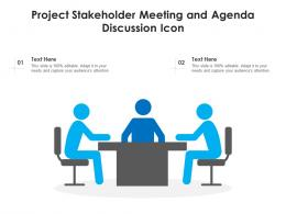 Project Stakeholder Meeting And Agenda Discussion Icon