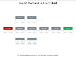 Project Start And End Pert Chart