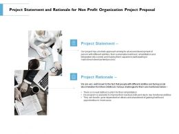 Project Statement And Rationale For Non Profit Organization Project Proposal Ppt Slide