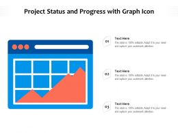 Project Status And Progress With Graph Icon
